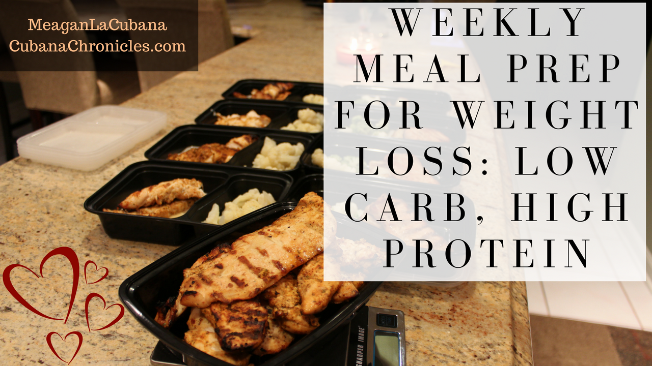 Meal Prep for Weight loss: Sunday November 5, 2017