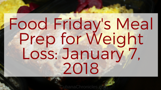 Food Friday's Meal Prep for Weight Loss: January 7, 2018