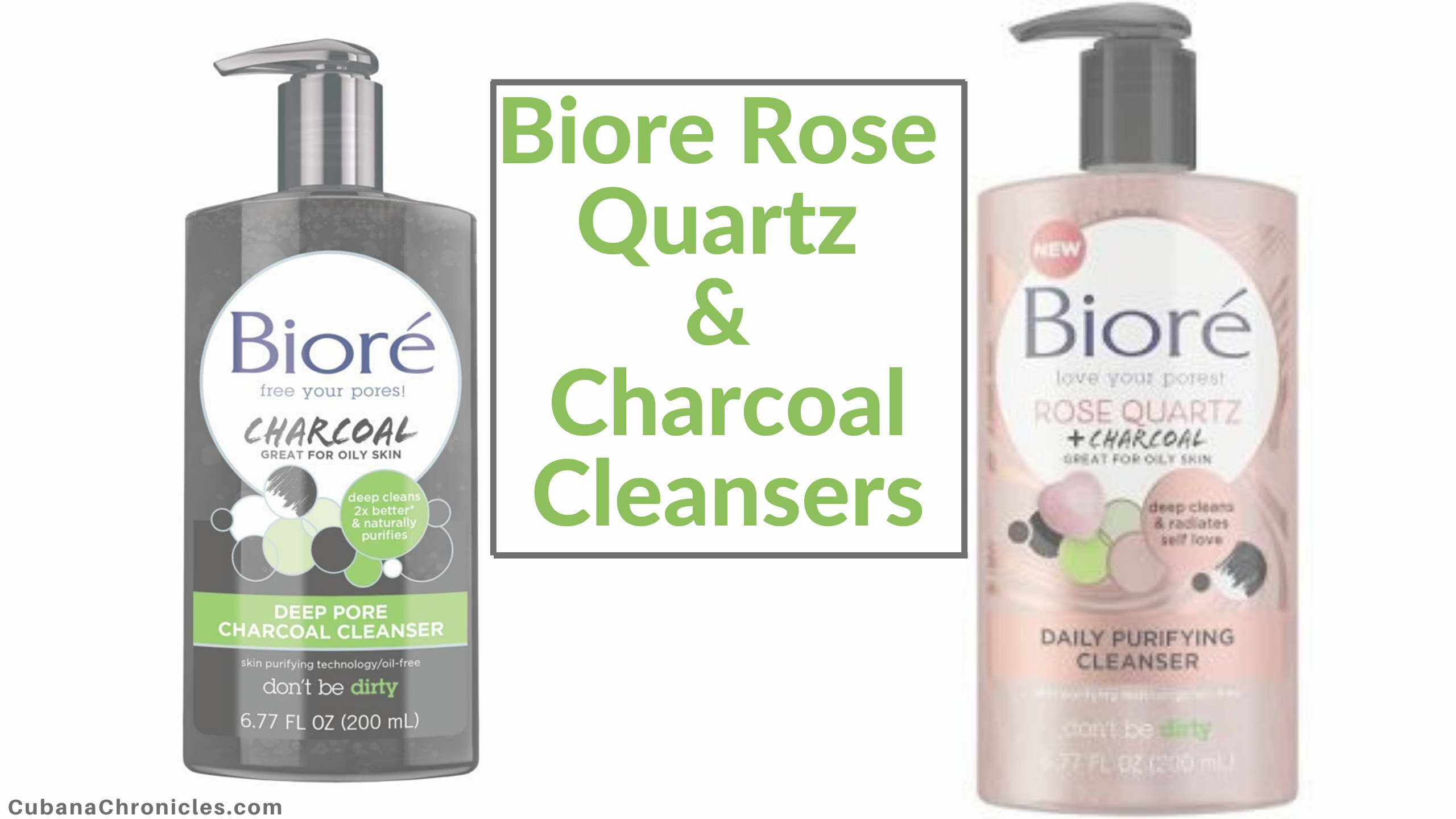 Biore Rose Quartz & Charcoal Cleanser